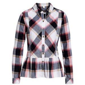 Calson Peplum Plaid Shirt Button Down | Nordstrom